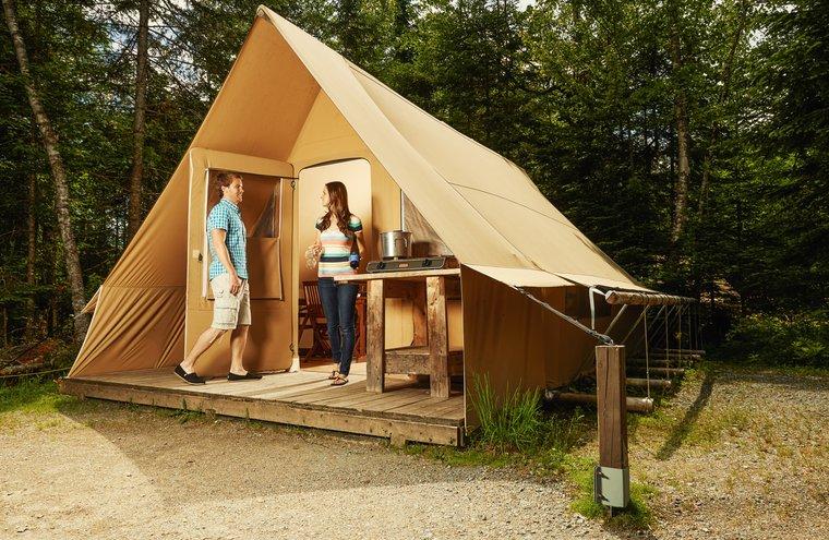 Parc national de Frontenac - Tente Huttopia - Camping - Thetford