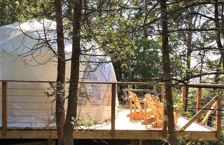 Camping de la Demi-Lieue - tente dôme