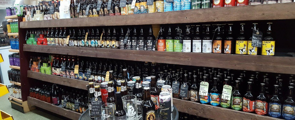 650 sorts of beers of 80 microbrasseries(microbreweries) of Quebec