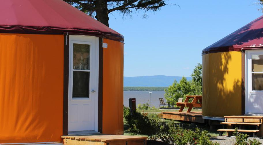 Camping Pointe-aux-Oies yourtes