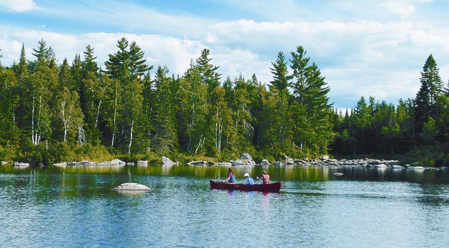 Canot-camping, baie Sauvage