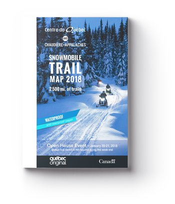 Snowmobile trail map 2018 - Waterproof and tearproof paper